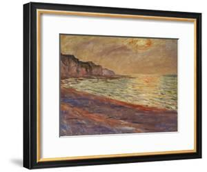 Beach at Pourville, Sunset, 1882 by Claude Monet