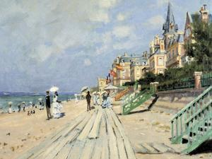 Beach at Trouville by Claude Monet