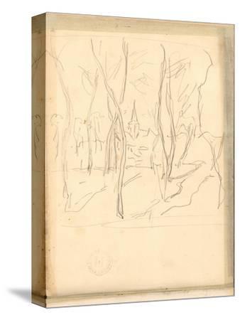 Bennecourt Seen Through the Trees (Pencil on Paper)