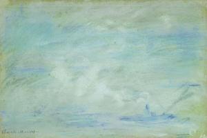 Boat on the Thames, Haze Effect; Bateau Sur La Tamise, Effet de Brume, 1901 by Claude Monet
