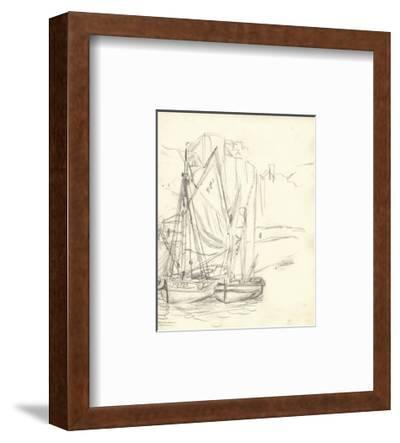 Boats in the Port at Honfleur (Pencil on Paper)