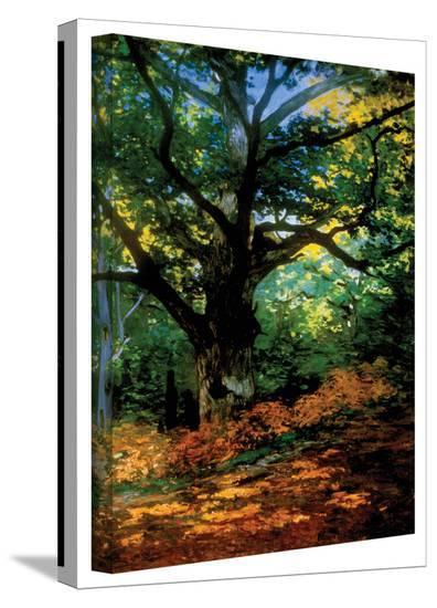 Claude Monet 'Bodmer Oak at Fountainbleau Forest' Gallery Wrapped Canvas-Claude Monet-Gallery Wrapped Canvas
