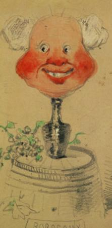 Bordeaux Wine, Caricature, 1857, Drawing by Claude Monet