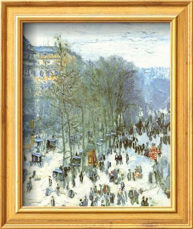 Boulevard des Capucines, c.1873 by Claude Monet