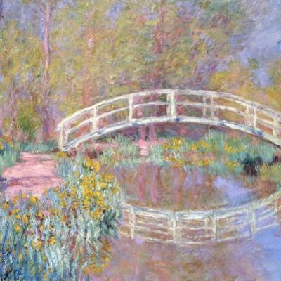 Bridge in Monet's Garden (Pont dans le Jardin de Monet). 1895-96 by Claude Monet