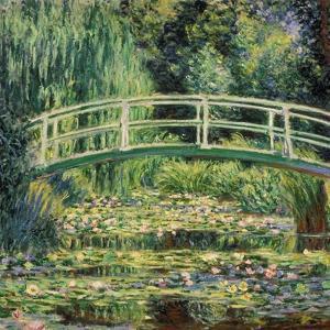 Bruecke in Monets Garten Mit Weissen Seerosen, 1899 by Claude Monet