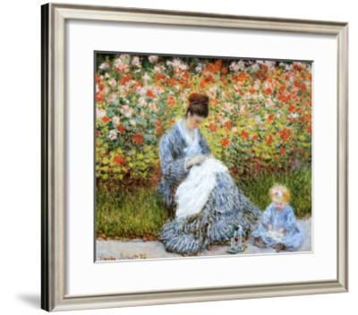 Camille Monet & Child in Artists Garden