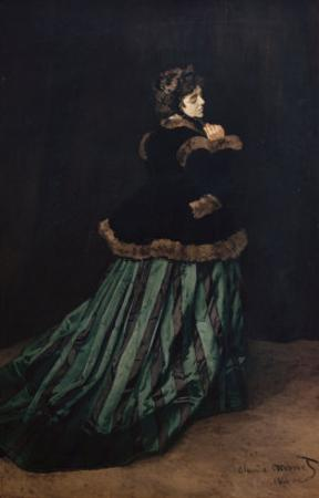 Camille, the Woman in Green by Claude Monet
