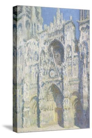 Cathédrale de Rouen, le portail et la tour Saint Romain, plein soleil, harmonie bleue et or