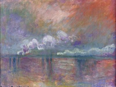 Charing Cross Bridge, Smoke in the Fog, 1902 by Claude Monet