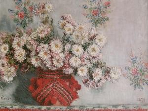 Chrysanthemums (Mums), 1878 by Claude Monet