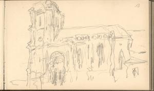 Church of Montjavoult (Pencil on Paper) by Claude Monet