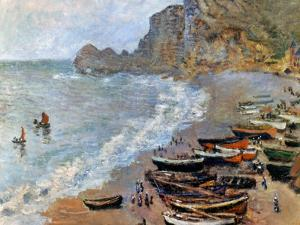 Claude Monet: Etretat, 1883 by Claude Monet