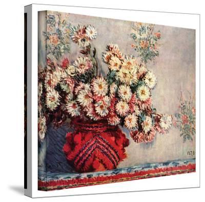 Claude Monet 'Red Vase' Wrapped Canvas Art