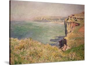 Cliff at Varengeville, 1882 by Claude Monet