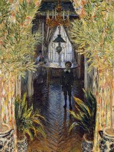Corner of a Flat at Argenteuil with Jean and Camill Monet, 1875 by Claude Monet