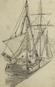 Deux barques de pêche by Claude Monet
