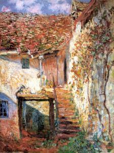 Die Treppe by Claude Monet