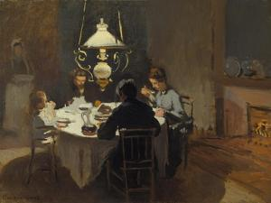 Dinner-Time at the Sisley's, ca. 1868/69 by Claude Monet