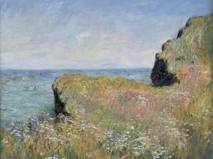 Edge of the Cliff, Pourville, 1882 by Claude Monet