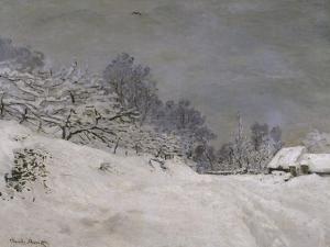Environs de Honfleur, neige by Claude Monet