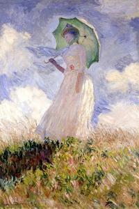 Essai de figure en plein air (1886), Dit femme à l'ombrelle tournée vers la gauche by Claude Monet