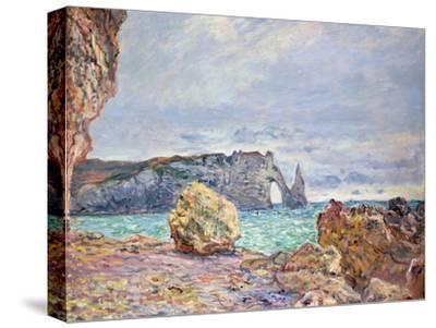 Etretat, Beach and Falaise D'Aval, 1884