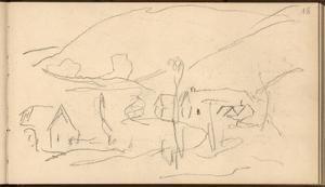 Falaise (Pencil on Paper) by Claude Monet