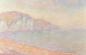 Falaises de Pourville, Le Matin, 1897 by Claude Monet