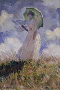 Femme à l'Ombrelle Tournée Vers la Gauche (Woman with Umbrella), 1886 by Claude Monet