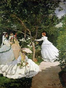 Femmes au jardin (Women in the Garden), 1866-67 by Claude Monet