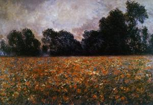 Field of Wild Poppies by Claude Monet