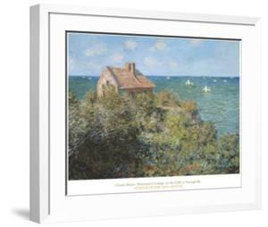 Fisherman's Cottage on the Cliffs at Var by Claude Monet