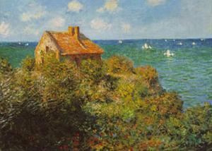 Fisherman's Cottage on the Cliffs at Varengeville by Claude Monet