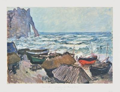 Fishing Boats at Etrétat