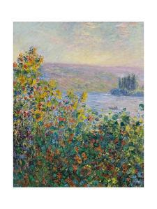 Flower Beds at V'theuil by Claude Monet