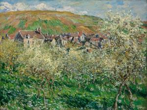 Flowering Plum Trees, 1879 by Claude Monet
