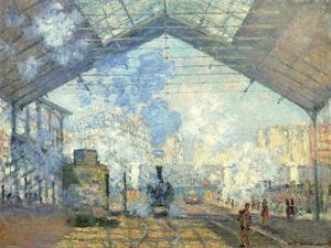 Gare Saint Lazare, Paris, 1877 by Claude Monet