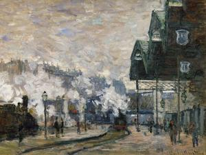 Gare St. Lazare, the Western Docks, 1877 by Claude Monet