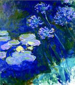 Gelbe Seerosen Und Agapanthes by Claude Monet