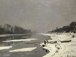 Glaçons sur la Seine à Bougival by Claude Monet