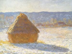 Haystack in Winter, 1891 by Claude Monet