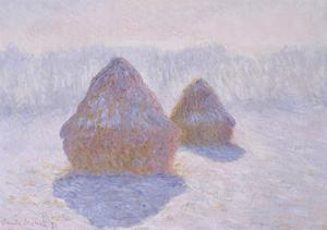 Haystacks (Effect of Snow and Sun), 1891 by Claude Monet