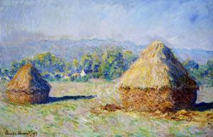 Haystacks, Morning Effect by Claude Monet