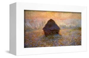 Haystacks, Sun on the Mist by Claude Monet