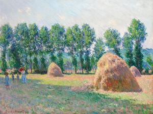 Heuschober in Giverny (Les Meules à Giverny). 1885 by Claude Monet