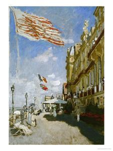 Hotel Des Roches Noires, Trouville, 1870 by Claude Monet