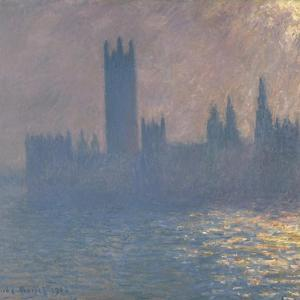 Houses of Parliament, Sunlight Effect (Le Parlement, Effet De Solei), 1903 by Claude Monet
