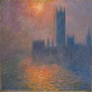 Houses of Parliament, sunset, 1904 by Claude Monet