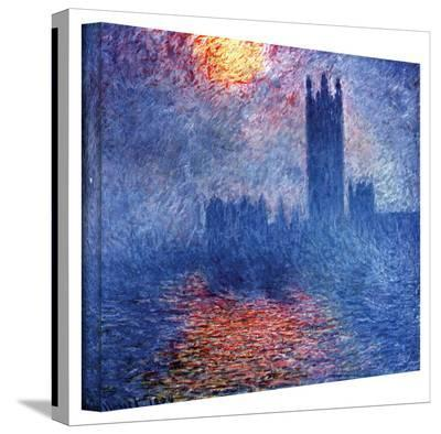 Claude Monet 'Houses of Parliament' Wrapped Canvas-Claude Monet-Gallery Wrapped Canvas
